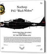 P-61b Black Widow Acrylic Print by Arthur Eggers