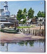 P' Town Boat Works Acrylic Print by Karol Wyckoff