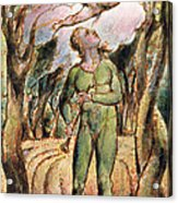 P.125-1950.pt2 Frontispiece Plate 2 Acrylic Print by William Blake