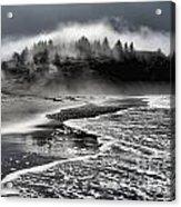 Pacific Island Fog Acrylic Print by Adam Jewell
