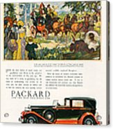 Packard 1930 1930s Usa Cc Cars Horses Acrylic Print by The Advertising Archives