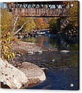 Packard Hill Bridge Lebanon New Hampshire Acrylic Print by Edward Fielding