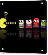 Pacman Superheroes Acrylic Print by NicoWriter