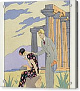 Paestum Acrylic Print by Georges Barbier