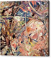 Paint Number 53 Acrylic Print by James W Johnson