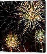 Paint The Sky With Fireworks  Acrylic Print by Saija  Lehtonen