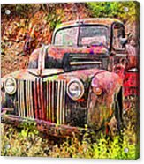 Painted Ford Acrylic Print by Robert Jensen