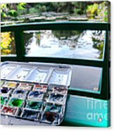 Painting In Giverny Acrylic Print by Olivier Le Queinec