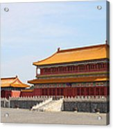 Palace Forbidden City In Beijing Acrylic Print by Thanapol Kuptanisakorn