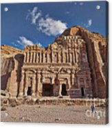 Palace Tomb In Nabataean Ancient Town Petra Acrylic Print by Juergen Ritterbach