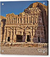 Palace Tombin Nabataean Ancient Town Petra Acrylic Print by Juergen Ritterbach