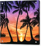Palm Beach Sundown Acrylic Print by Andrew Farley