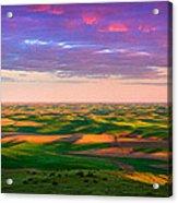 Palouse Land And Sky Acrylic Print by Inge Johnsson