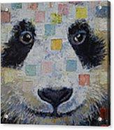 Panda Checkers Acrylic Print by Michael Creese