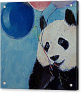 Panda Party Acrylic Print by Michael Creese