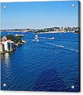 Panoramic Sydney Harbour Acrylic Print by Kaye Menner