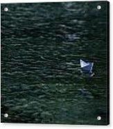 Paper Boat Acrylic Print by Joana Kruse