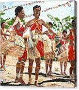 Papua New Guinea Cultural Show Acrylic Print by Carol Mallillin-Tsiatsios