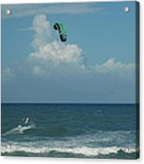 Para Surfing The Atlantic Acrylic Print by Sheri Heckenlaible