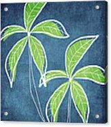 Paradise Palm Trees Acrylic Print by Linda Woods