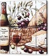 Pardo Vineyards Wine And Cheese Acrylic Print by Julia Sweda