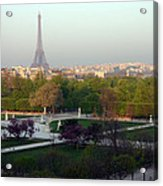 Paris Autumn Acrylic Print by A Morddel