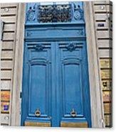 Paris Blue Doors - Paris Romantic Blue Doors - Paris Dreamy Blue Door Art - Parisian Blue Doors Art  Acrylic Print by Kathy Fornal