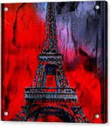 Paris Acrylic Print by Christine Mayfield