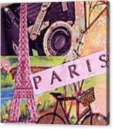 Paris  Acrylic Print by Eloise Schneider