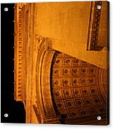 Paris France - Arc De Triomphe - 01132 Acrylic Print by DC Photographer