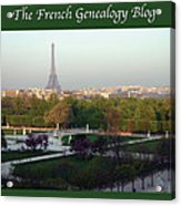 Paris In The Fall With Fgb Border Acrylic Print by A Morddel