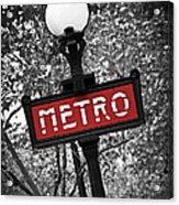 Paris Metro Acrylic Print by Elena Elisseeva