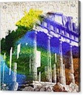 Parthenon Acrylic Print by Aged Pixel