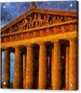 Parthenon On A Stormy Day Acrylic Print by Dan Sproul