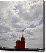 Partly Cloudy Acrylic Print by Michelle Calkins