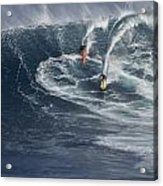 Party Wave At Jaws  Acrylic Print by Brad Scott