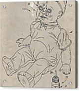 Patent For Crying Baby Doll Acrylic Print by Edward Fielding