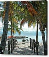 Path To Smathers Beach - Key West Acrylic Print by Frank Mari