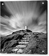Path To Twr Mawr Lighthouse Acrylic Print by Dave Bowman