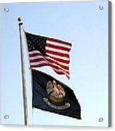 Patriotic Flags Acrylic Print by Joseph Baril