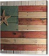 Patriotic Wood Flag Acrylic Print by John Turek