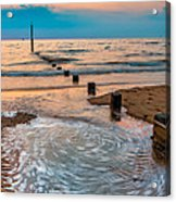 Patterns On The Beach  Acrylic Print by Adrian Evans