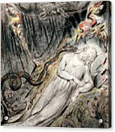 Pd.20-1950 Christs Troubled Sleep Acrylic Print by William Blake