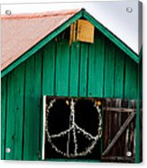 Peace Barn Acrylic Print by Bill Gallagher