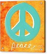 Peace Acrylic Print by Linda Woods