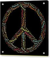Peace Symbol - 0202 Acrylic Print by Variance Collections
