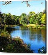 Peaceful Lake Acrylic Print by Susan Savad