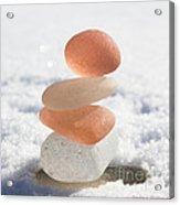 Peach Smoothie Acrylic Print by Barbara McMahon