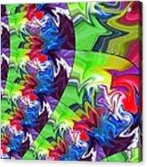 Peacock Acrylic Print by Chris Butler