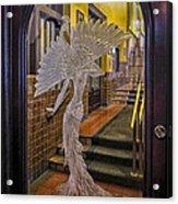Peacock Room Door Acrylic Print by Diane Wood